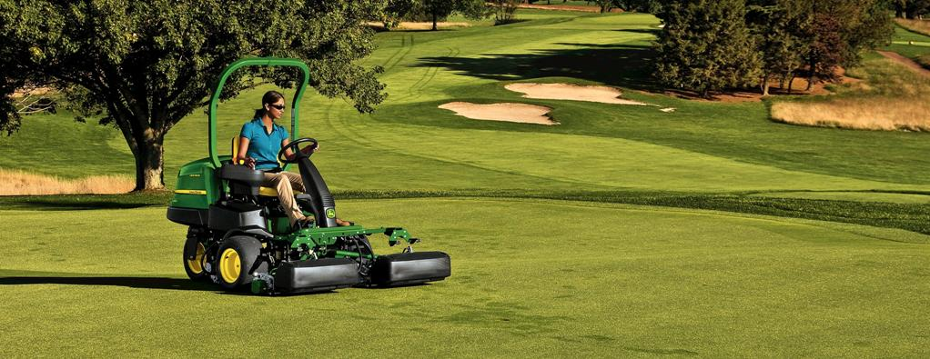 John Deere Mower on golf course