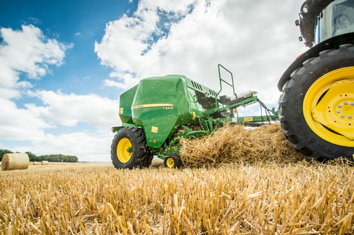 New John Deere round baler at AgriScot
