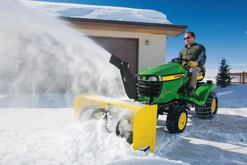 New snow blowers for John Deere lawn tractors.