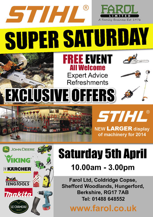 STIHL SUPER SATURDAY 5TH APRIL
