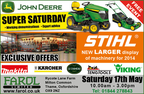 STIHL Super Saturday May 17th Milton Common