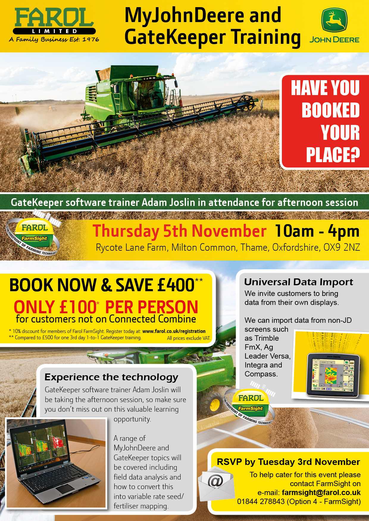 MyJohnDeere & GateKeeper Training