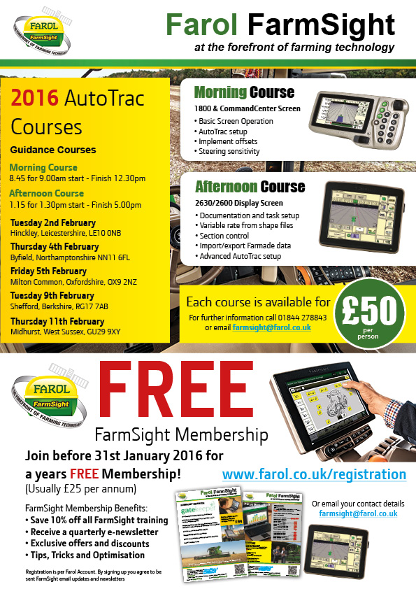 2016 AutoTrac Course Dates