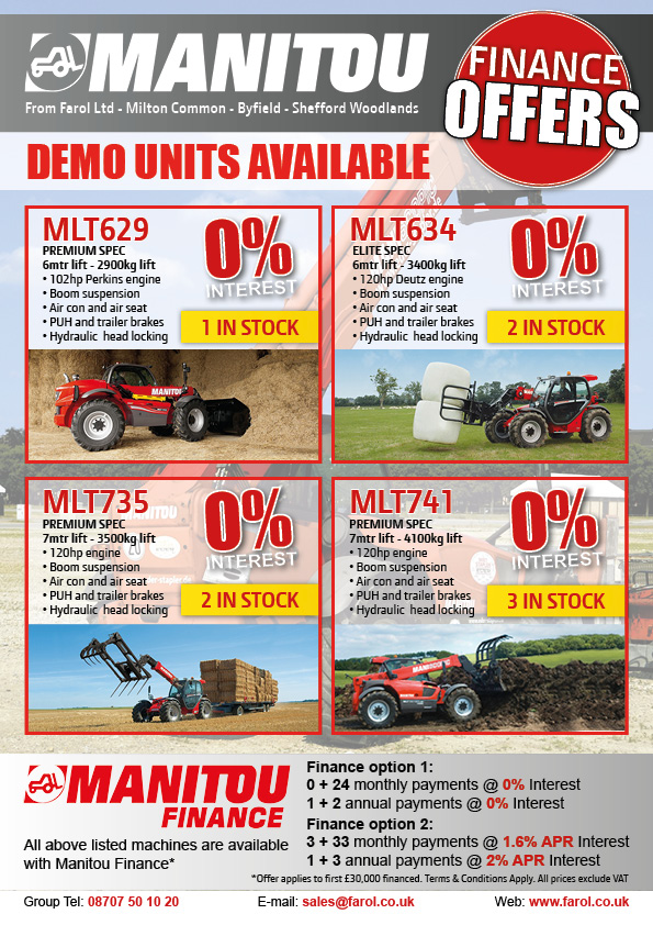 Manitou 0% Interest Offers