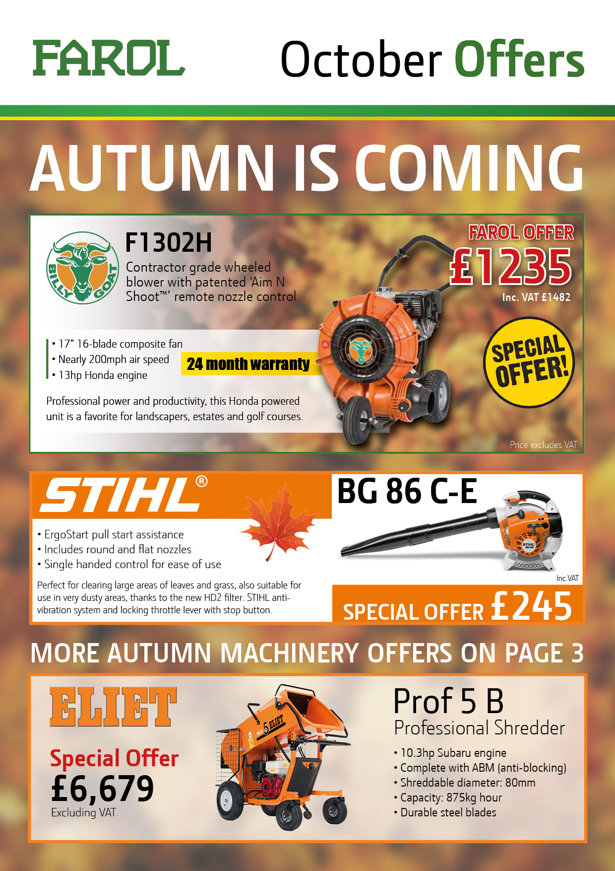 Farol Offers Flyer October 2017