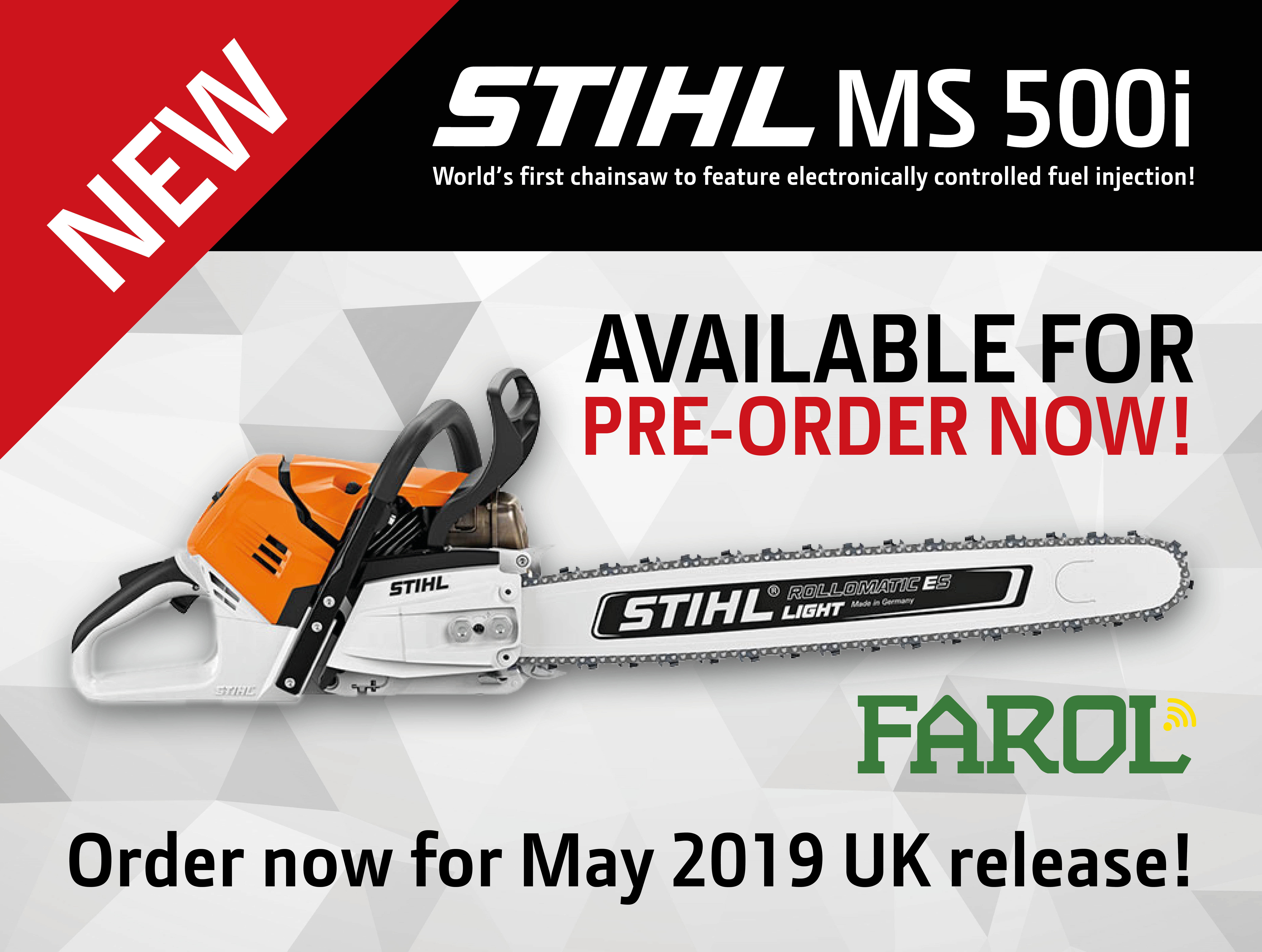 New STIHL MS 500i Available for Pre-order