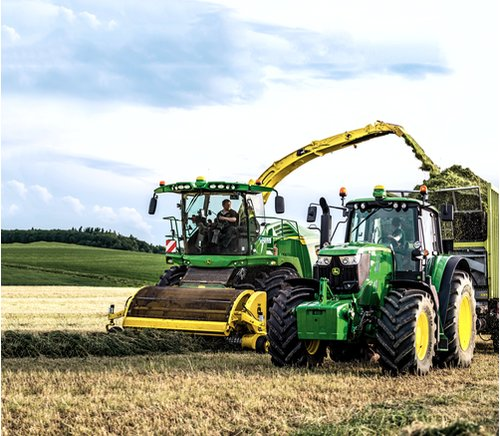 New John Deere grassland machinery on show