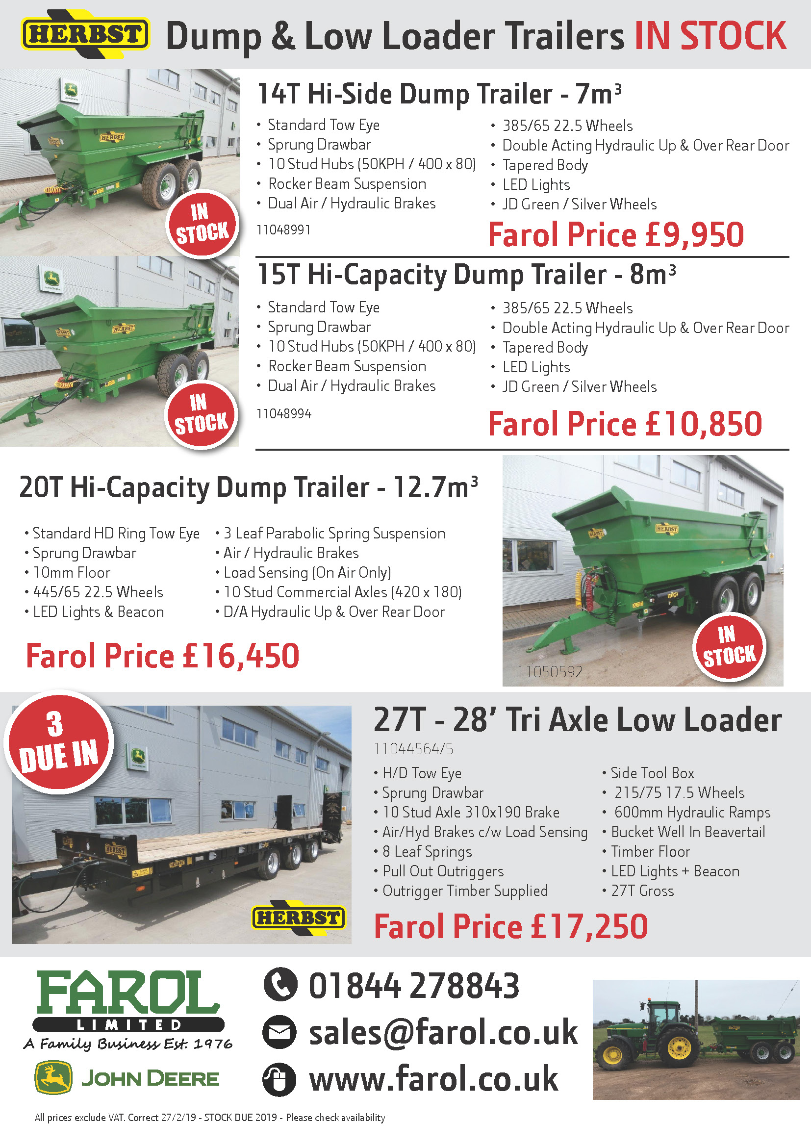 Herbst Trailer Stock Offers