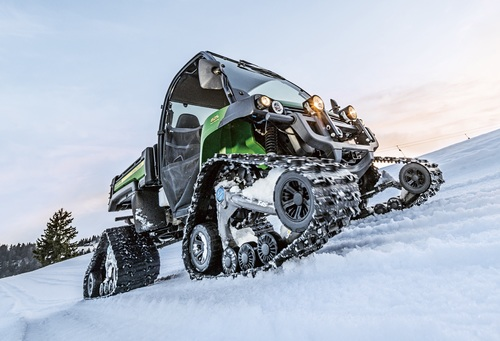 John Deere Gators get on track