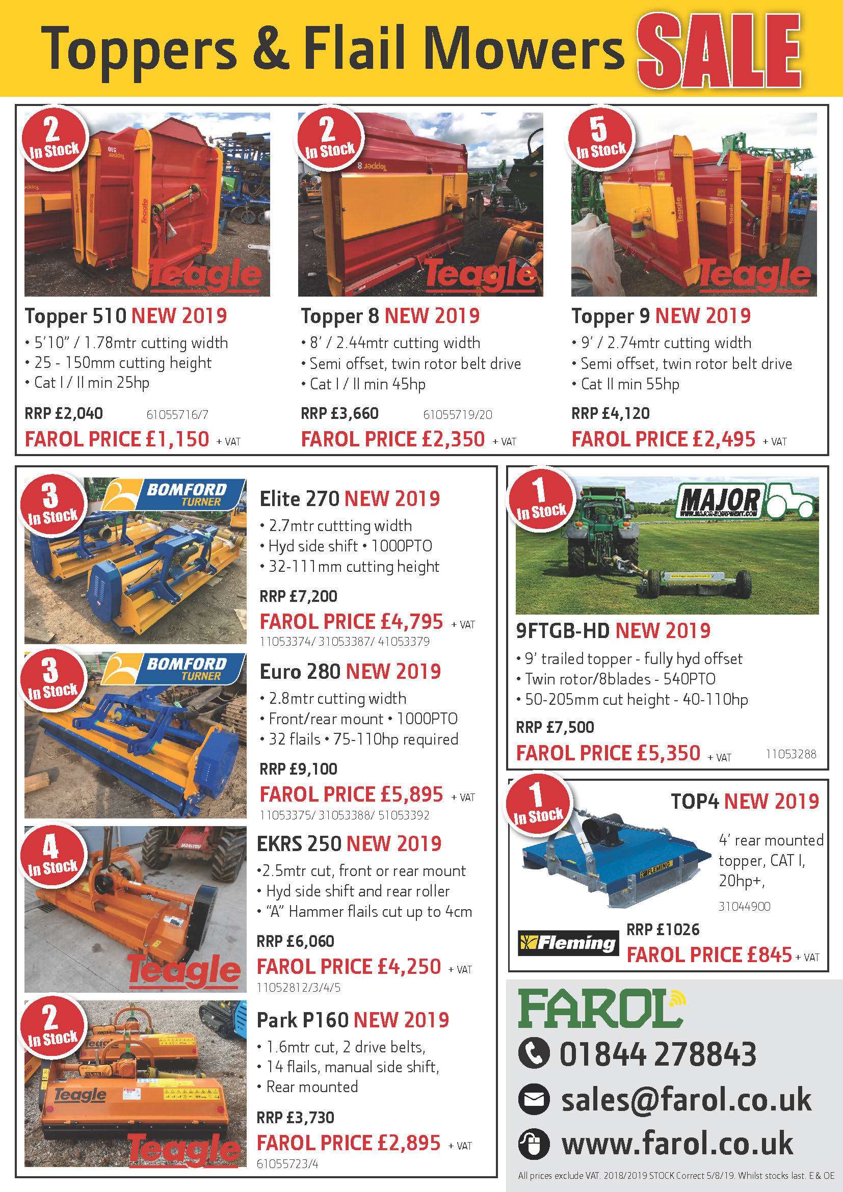 Topper & Flail Summer Sale